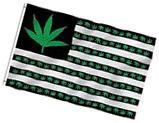 Anley Fly Breeze 3x5 Foot Marijuana Leaf USA Polyester Flag