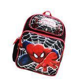 "Marvel Ultimate Spiderman Boys 16"" Canvas Black School"