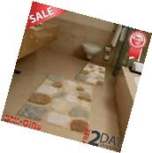 Bathroom Rug and Mat Set Throw Rugs Runner Non Slip Pebbles