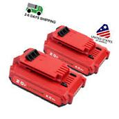 2 Pack 20V MAX 4.0AH Li-Ion Battery For Porter Cable PCC685L