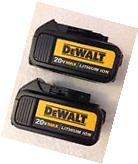 2 New 2016 Dewalt 20V Max DCB200 3.0Ah Lithium Ion Batteries