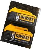 Dewalt 20V Max XR DCB205-2 5.0Ah Lithium Ion 2 PACK NEW