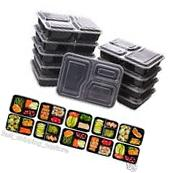 Meal Prep Containers 10 Plastic Food Storage BPA Free