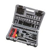 New Stanley 226 Piece Mechanics Tool Set Black Chrome