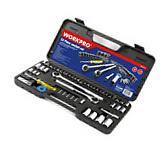52 Piece Mechanics Tool Set Case Socket Ratchet Wrench 3/8