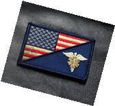 MEDIC EMT EMS USA FLAG TACTICAL COMBAT MORALE 3 INCH VELCRO