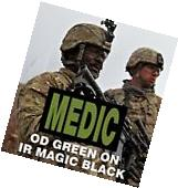 """MEDIC OD GREEN ON MB IR PATCH 3.5""""X2"""" 3M SOLASX WITH VELCRO"""
