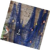KINGSO Mediterranean Style Decorative Fish Net With Anchor