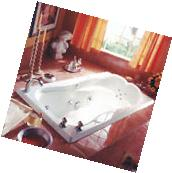 NEPTUNE MELIA MODERN 66x34 DROP-IN SQUARE SOAKING TUB