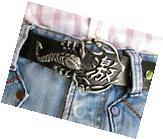 Men Women Silver Metal Cowboy Western Desert Fashion Belt