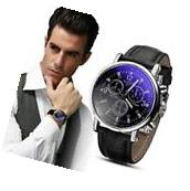"New Men""s Date Luxury Fashion Crocodile Faux Leather"