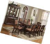 Merlot 9 Piece Formal Dining Room Furniture Set Pedestal