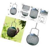 Metal Hanging Bird Feeder Seed Wild Pet Outdoor Garden
