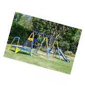 Metal Swing Set Backyard Outdoor Playground Kids Toddler