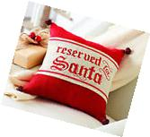 Mud Pie MH5 Christmas Home Decor Reserved For Santa Burlap