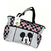 Disney Mickey Mouse Large Tote Diaper Bag Baby Bottle Bag