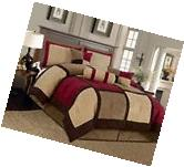 Textiles Plus 7-piece Micro Suede Patchwork Bed-in-a-bag