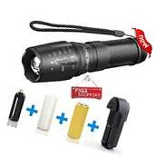 LED Military Tactical Zoom Flashlight w/ Rechargeable