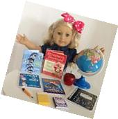 Mini Books & School Supplies for American Girl Doll 18""