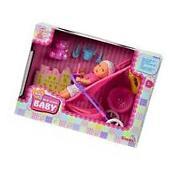 Simba Mini New Born Baby Doll Buggy Stroller Set Toy Rare