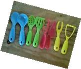 COOKING FUN 8 PACK MINI KITCHEN PLAY UTENSILS TOY SET FOR