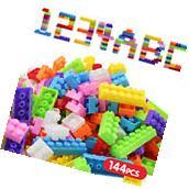 Mini 140Pcs Plastic Children Kid Puzzle Educational Building