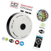 Mini 360 Degree Wireless 960P HD Fisheye IP Security Camera