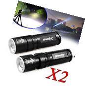 2PCS Tactical 10000LM CREE T6 LED Flashlight ShadowHawk