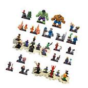 Lot of 32Pcs MiniFigures Lego Super Heroes MARVEL.DC Series