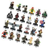 Lot of 24Pcs MiniFigures Lego Super Heroes Series Captain