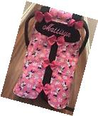 Handmade Minnie Mouse With Bows Baby Infant Car Seat Canopy