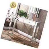 Mirrored Vanity Makeup Table Console Contemporary Desk