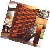 10M Modern 3D embossed PVC textured brick Orange uniquely