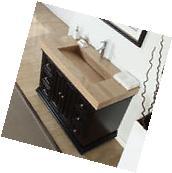 48-inch Modern Bathroom Single Vanity Cabinet Travertine Top