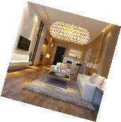 Modern Beaded Fixture Ceiling Light Lighting Crystal Pendant