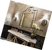 LARGE MODERN CHINESE CHIPPENDALE WALL MIRROR FRAMED BATHROOM