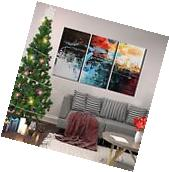 Large Modern Contemporary 3-Piece Set Oil On Canvas Painting