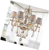 Modern Crystal Ceiling Lighting Chandelier 6 Light Lamp