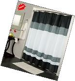 Modern Designed Shower Curtain Grey/White/Black 70x72 Tub