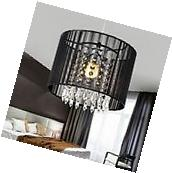 Modern Drum Pendant Light Shade Crystal Ceiling Lamp