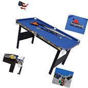 Modern Kids Folding Snooker Pool Table Deluxe Billiard Game