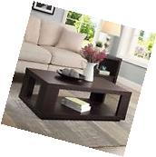 NEW Modern Living Room Coffee Table Rectangular Espresso