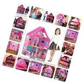 Modern Pink Barbie Dream House Play Home Room Set Girls Toy