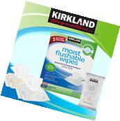 Kirkland Signature Moist Flushable Wipes, 632 Wipes *** FREE