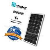 Renogy 100W 12V Mono Solar Panel Expansion Kit for RV Boat