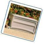 Suncast Morel Premium 73-Gallon Deck Box with Wheels -