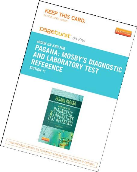 mosbys diagnostic and laboratory test reference text and ebook package mosbys diagnostic laboratory test reference pagana