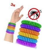 3 Pack Natural Mosquito Repellent Wrist Band Waterproof Bug