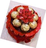 Mother's Day Birthday Gift Basket Floating Candles Ferrero