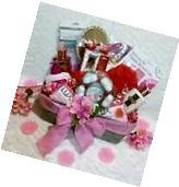 Mother's Day Mom Gift Basket Pink Facial Nail Polish Bath